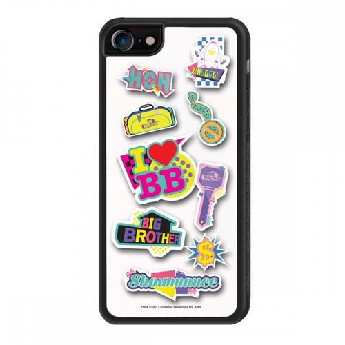 Big Brother 80s Stickers iPhone 7 Case Image