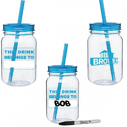 Big Brother Mason Jar Name Tumbler Blue Image