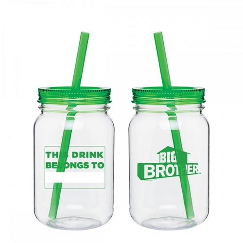 Big Brother Mason Jar Name Tumbler Green Image
