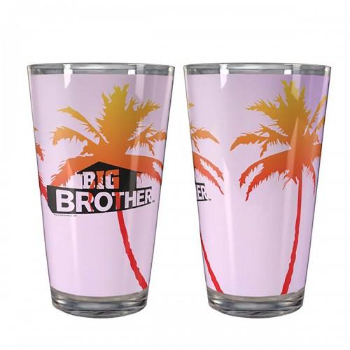 Big Brother Palm Pint Glass Image